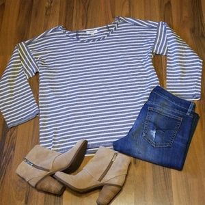 Madewell | Blue & Cream Striped Shirt